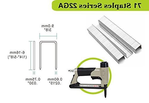 meite 22 Gauge 3/8-Inch Crown C-crown Nose Stapler Fine Wire Stapler
