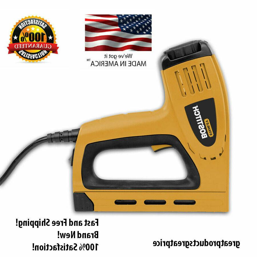 New Bostitch 3/8-in Electric Staple Heavy Duty Contoured Gri