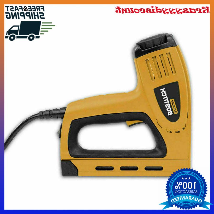 New Bostitch 5/8-in Electric Staple Gun Heavy Duty Contoured