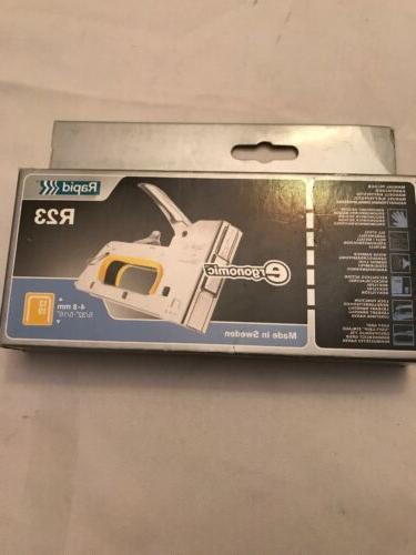 new fineline r23 ergonomic staple gun stapler