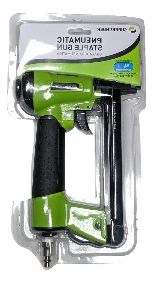 pneumatic 7 piece heavy duty staple gun