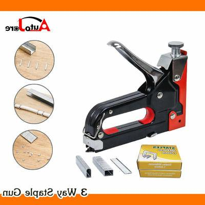 Heavy Duty Nail Staple Gun Kit 3 IN 1 Stapler Tacker With 90