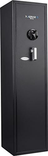 BARSKA New Large Quick Access Biometric Rifle Gun Safe Cabin