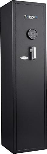 BARSKA New Large Quick Access Keypad Rifle Safe Cabinet 4.3