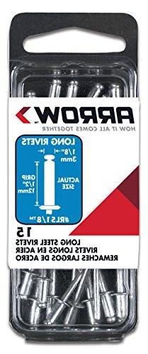 Arrow Fastener RLS1/8 15-Pack 1/8 x 1/2-Inch Long Steel Rive