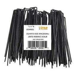 "MTB 100 Pack 8"" L x 1"" W 11GA  Landscape Staples Black Carbo"