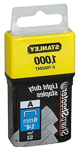 Stanley TRA204T 1/4 Light Duty Staples 1,000 Count