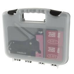 Pink Light Staple Gun in Case Starter Kit 600 Staples Fabric