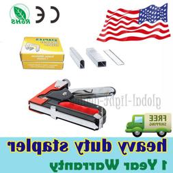 3in1 Heavy Duty Staple Gun Stapler Tacker With 600 Staples U