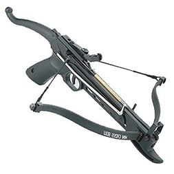 80 Pound Self-cocking Pistol Crossbow with 27 Bolts and Extr
