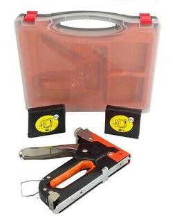 3 Way Stapler Staple Gun Brad Nailer KIT Heavy Duty Upholste