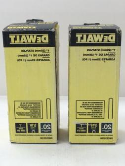 DEWALT 1 in. x 20-Gauge 3/16 in. Crown Glue Collated Hardwoo